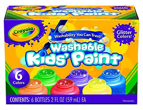 교실 프로젝트 용 Crayola Washable Glitter 페인트, 6 카운트/..