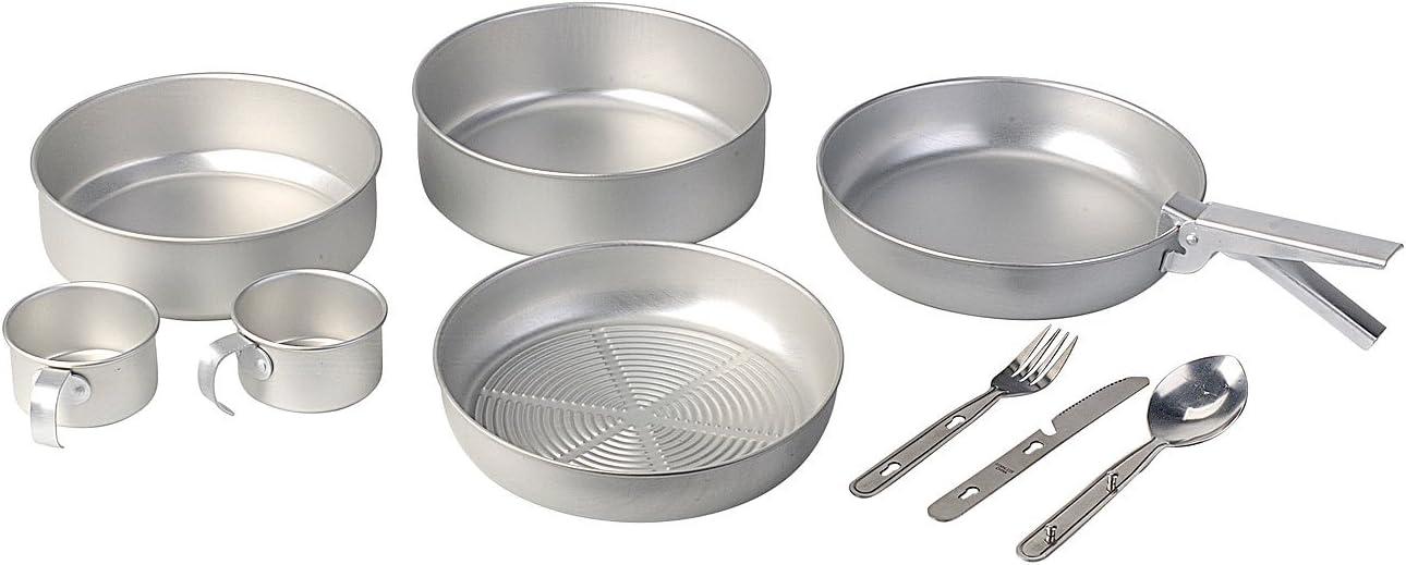 Semptec Urban Survival Technology Supervivencia Juego de Cocina: Utensilios de Cocina para Acampar de 13 Piezas Hechos de Aluminio con Cubiertos de ...