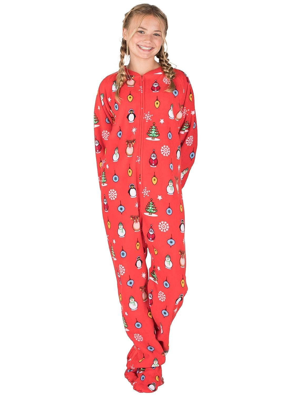 958554b09a6c Footed Pajamas - Holly Jolly Christmas Kids Fleece Onesie FL-156-K ...