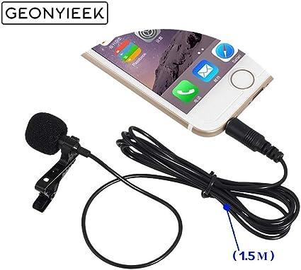 2 Pcs 3.5Mm Jack Microphone Lavalier Tie Clip-On Lapel Mikrofon ...