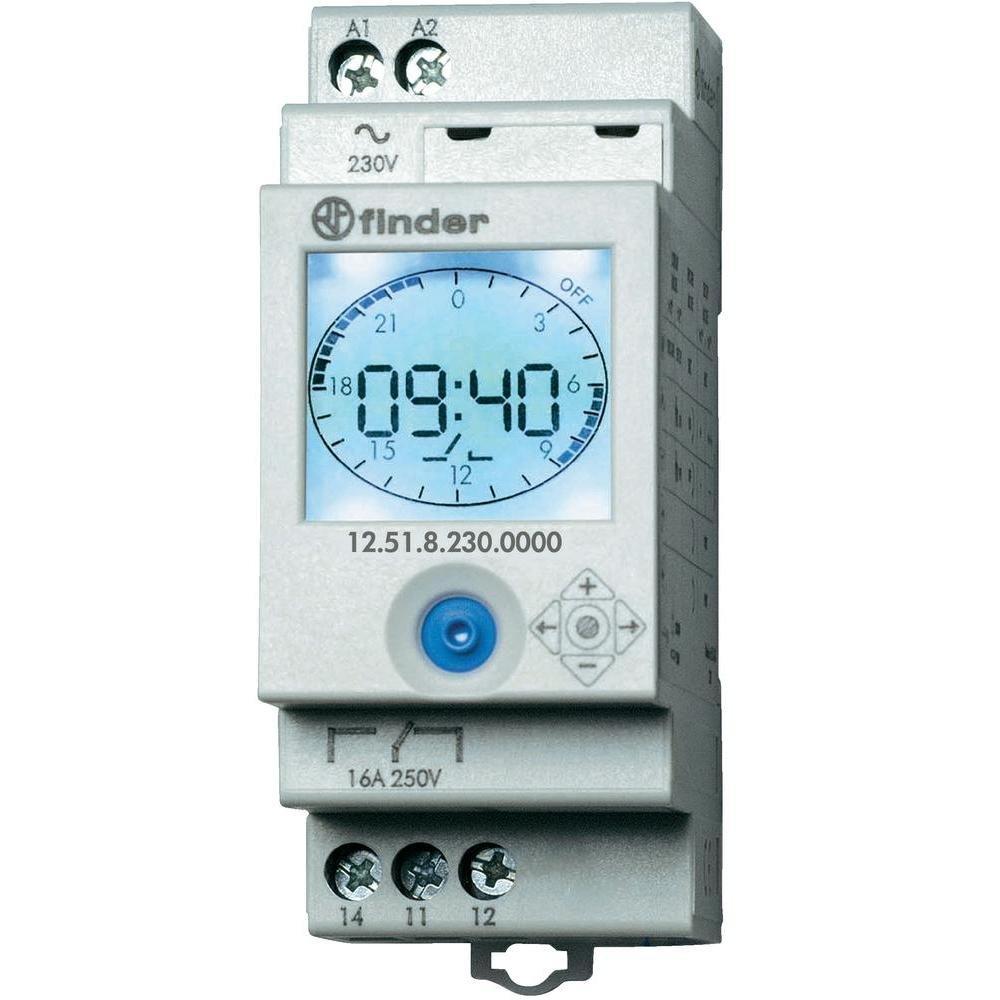 /Interrupteur horaire hebdomadaire s/érie 12/1/contact 16/A 230/V Finder s/érie 12/