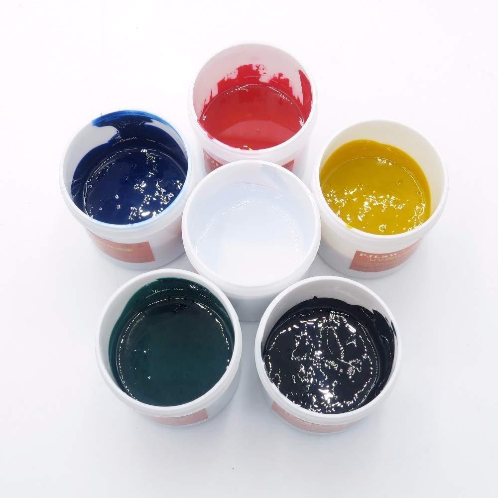 Jammas One kilogram green PCB UV curing solder resist ink, PCB UV photosensitive ink, solder mask UV ink, blue, red, yellow, p