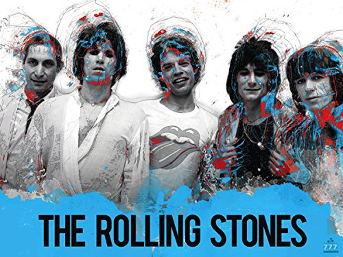 777 Tri-Seven Entertainment The The Rolling Stones Poster Music Wall Art Print (24x18) ()