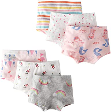 Anntry 3-12 Years Old Girl/'s Solid Color Biking Shorts Boyshort Underwear Safety Dress Panties 4 Pack
