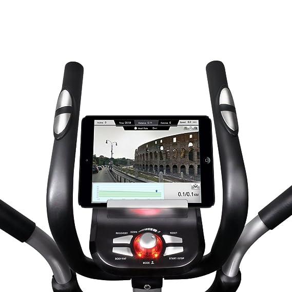 vidaXL Crosstrainer 18kg Drehmasse Smartphone App Ellipsentrainer Heimtrainer Crosstrainer