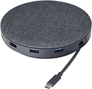Universal Laptop Hub Mini and Dock with USB-C/USB 3.0 Ports and Wireless Charging Pad for Work from Home (WFH) Compatible with MacBook and Windows PC | Hub Mini by Remote