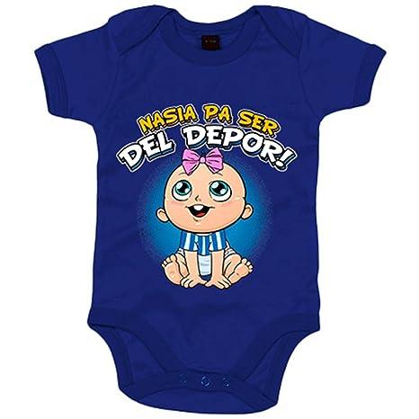 Body bebé nacida para ser del Depor Coruña fútbol - Azul Royal, 6-12