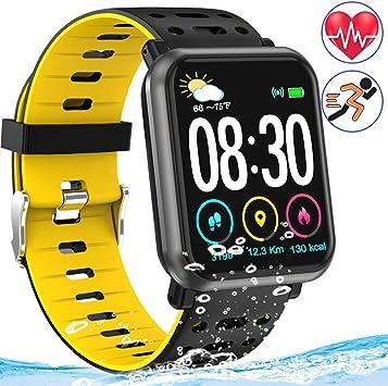 Amazon.com: Fitness Tracker Reloj con frecuencia cardíaca ...