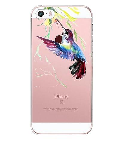 Pacyer Case kompatibel mit iPhone SE Hülle Silikon Ultra dünn Transparent iPhone 5S iPhone 5 Handyhülle Durchsichtige Rücksch