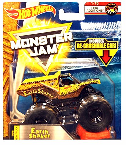 Hot Wheels Monster Jam 2018 Epic Additions Earth Shaker (Includes Re-Crushable Car) 1:64 Scale for $<!--$24.95-->