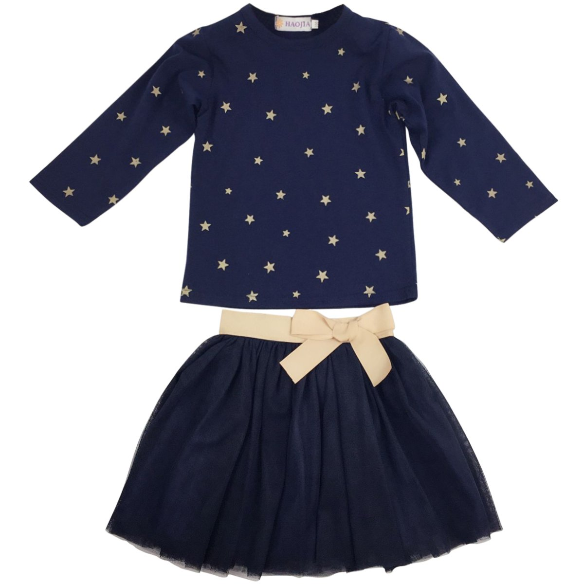 Jastore Girls Blue Cartoon Clothing Sets Long Sleeve Top+Tutu Skirt Kids Clothes Clothing010031