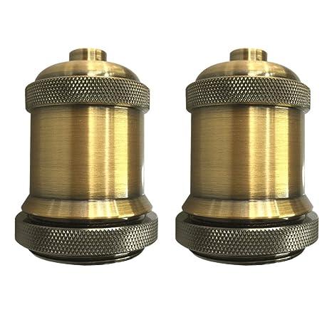 Generic 2 unidades cobre envejecido Vintage embellecedor para aplique de lámpara, E26/E27 tornillo