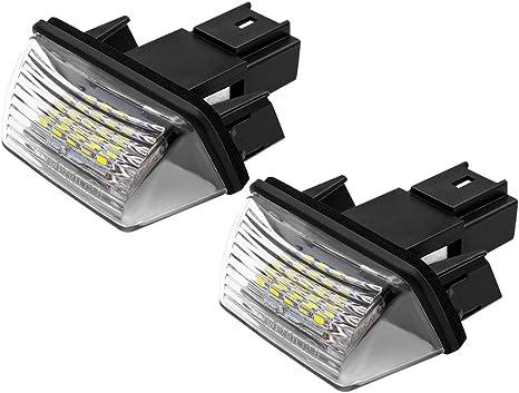 Luci targa a LED lampadine per 207/308/406/per Citroen C3/2/x