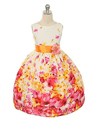 Amazon kids dream girls floral spring easter flower girl dress floral spring easter flower girl dress in fuchsia 2t mightylinksfo