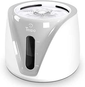 Tespo Cat Water Fountain Pet Drinking Water Dispenser 2L Super Quiet (Grey)