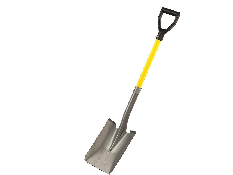 Bon 28-109 Contractor Grade Square Point Shovel with 27-Inch D Style Fiberglass Handle