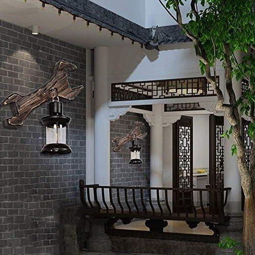 Industriales Woody Retro antiguos apliques de pared de luz Personalidad pared lámpara de pared de la linterna de la vendimia de la antigüedad Renovación Salón Dormitorio Cocina Salón Jardín Restaurant: Amazon.es: Hogar