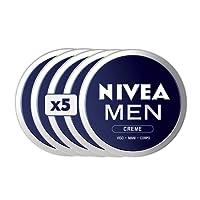 Nivea Men Creme Viso/Mani/Corpo, Crema Idratante da Uomo, Confezione da 5 Pezzi