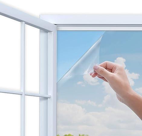 Rhodesy Mirror Window Film One Way Mirror Adhesive Window Film Anti Uv Heat Control Sun Blocker Privacy Protection Glass Decorative Film 90 X 200 Cm 35 4 X78 7 Inch Silver Amazon Co Uk Kitchen Home