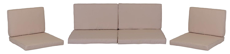 beo cuscino cuscino cuscino ricambio per gruppi di Monaco Set sostituzione impermeabile Set con 8Lounge, spessore 5cm, Beige Chiaro 4014119453646