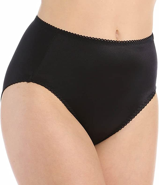 Vassarette 48001 Undershapers Smoothing Hi-Cut Brief Panty 2XL