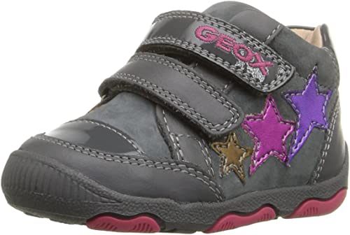 Geox B New Balu' D, Chaussures Marche Bébé Fille, Grau (DK