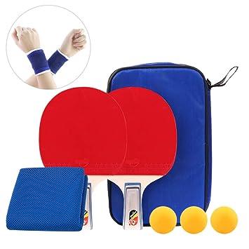 DAZISEN Raquetas de Tenis de Mesa - 2 Raquetas de Table Tennis 3 ...