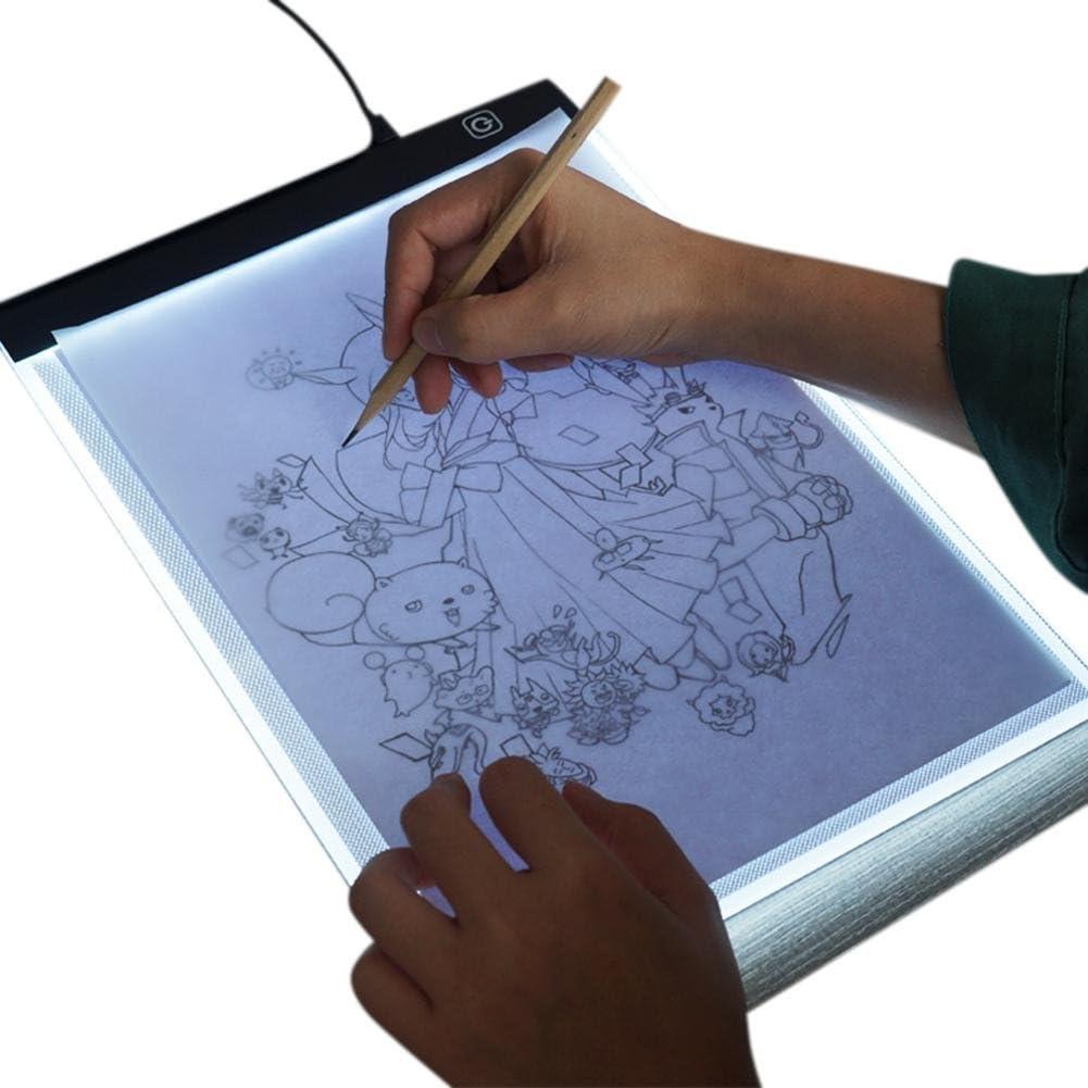 lā vestmon A4 LED caja de luz Tracer Pad, portátil Dimmable Ultra Fina 3,5 mm mesa de dibujo para dibujo abocetar Copia DIY diamante Pintura: Amazon.es: Hogar