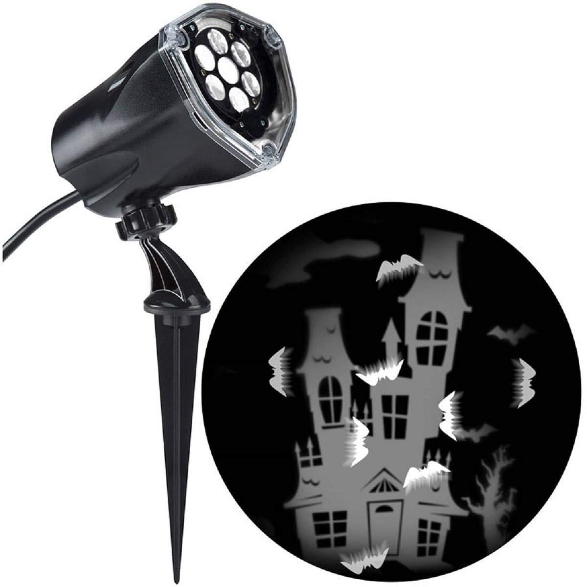 Sunstar Holiday Lightshow Projection  WhirlaMotion+ Static Bat (White)