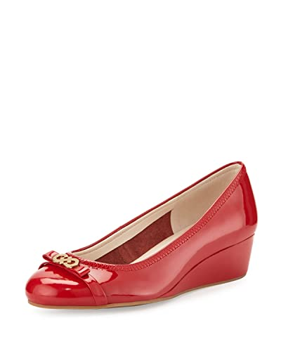 Womens Shoes Cole Haan Elsie Logo Wedge II Tango Red/Tango Red Patent
