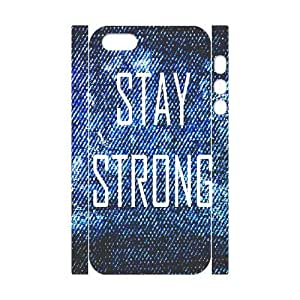 Custom New Case for Iphone 5,5S 3D, Stay Strong Phone Case - HL-R656133