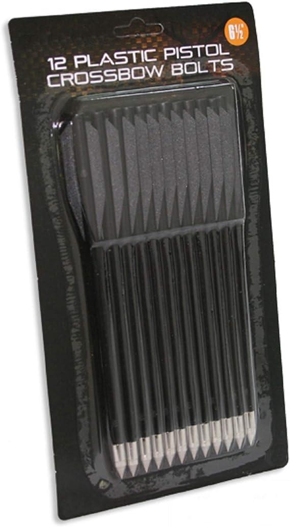 "6.5/"" PLASTIC BOLTS PACK OF 12 BLACK COLOR FOR PISTOL CROSS 50LB /& 80LB"