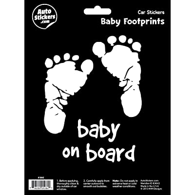 WMI Designs (10042) Footprint - Baby on Board Sticker: Automotive