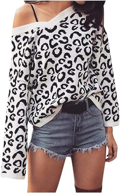 ClOOM Jersey de Punto Otoño e Invierno Moda Sexy Blusas ...
