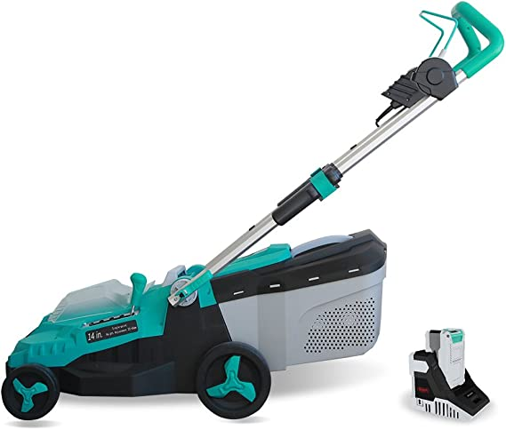 Realm 14-Inch 40V Lithium-Ion Cordless Lawn Mower