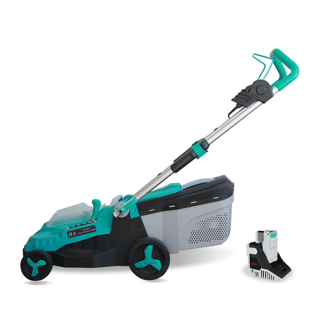 Realm 14-Inch 40V Lithium-Ion Cordless Lawn Mower, 4.0 AH Battery Included RM-LM01-B2Z-340