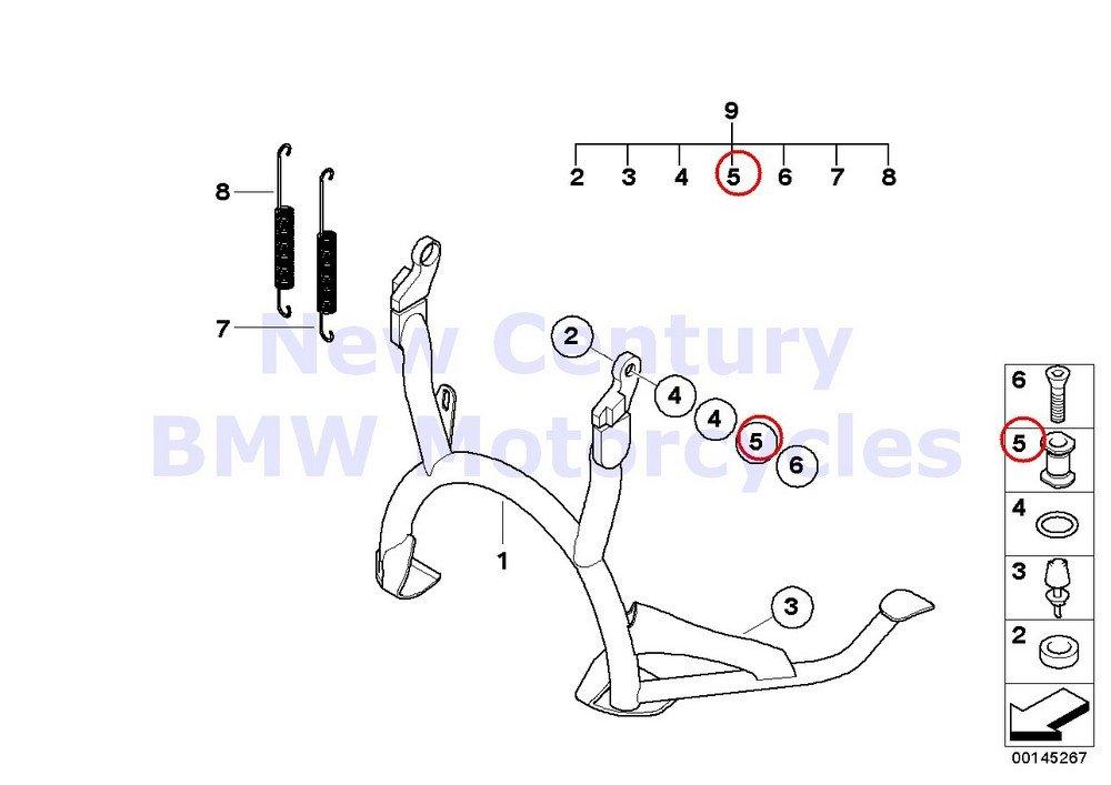 BMWオートバイ純正センタースタンドピボットピンr1100s r1200gs r1200gs Adventure r1200rt r900rt r1200r r1200st B01MXS8GBZ