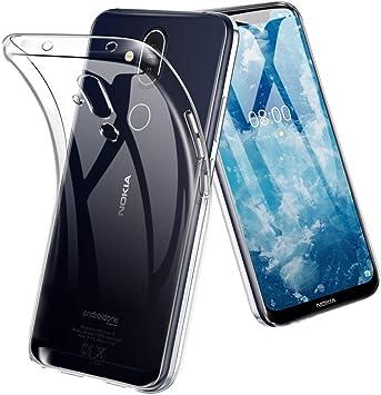Funda Nokia 8.1 TopACE Funda Transparente Suave TPU Gel Enjaca ...