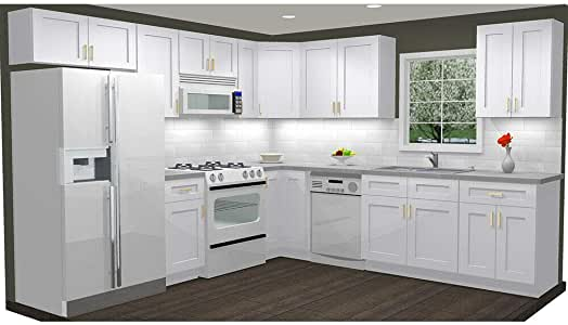 Amazon.com: Lily ann Cabinets 10x10 Kitchen Wall Mounted ...