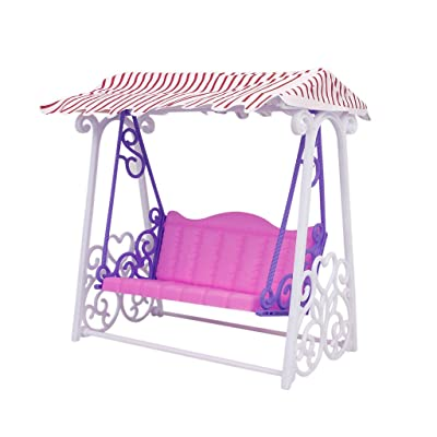 Plastic Garden Swing Play Set for Barbie Doll: Toys & Games