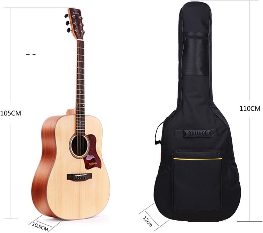 Sel Natural negro 41 pulgadas Guitarra Acústica Guitarra Correas ...