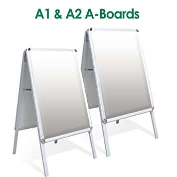 A2, A1-A-Board Double Side Aluminium Pavement Sign, Snap Frame ...