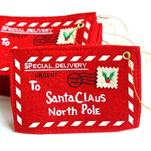 Jocestyle Santa Claus Gift Money Card Holders with Envelopes Christmas Ornament Decor Set of 10 Photo #6