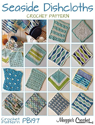 Crochet Pattern Seaside Dishcloth Set PB197