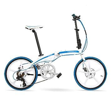 Bicicleta plegable 20 pulgadas de aleación de aluminio ultraligero rueda pequeña 7 velocidades de freno de