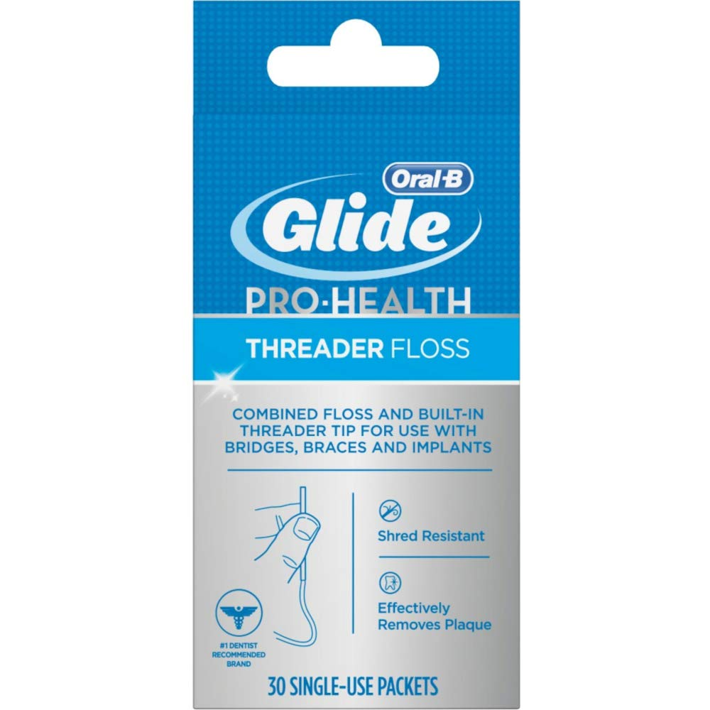 Glide Threader Floss, 30 Single-Use Packets each (Value Pack of 12) by GLIDE