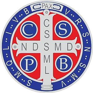 Car Magnet Color Saint Benedict Medal for Lockers or Fridge, 5 1/2 Inch