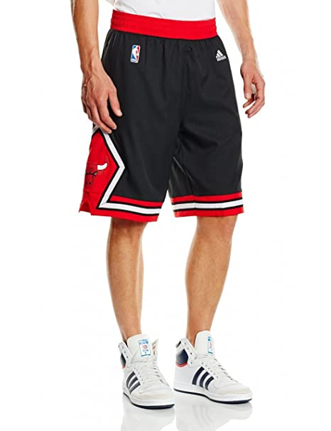 adidas, Pantaloncini da basket Uomo, motivo: Chicago Bulls NBA