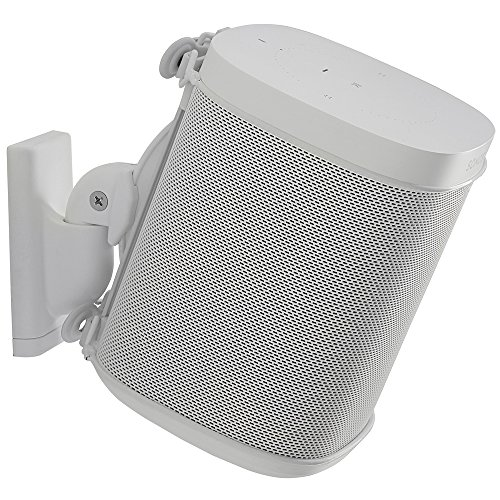 - Sanus Wireless Speaker Wall Mount Sonos ONE, Play:1, Play:3 - Tool Free Tilt & Swivel Adjustments for Best Audio - Single (White) - WSWM21-W1