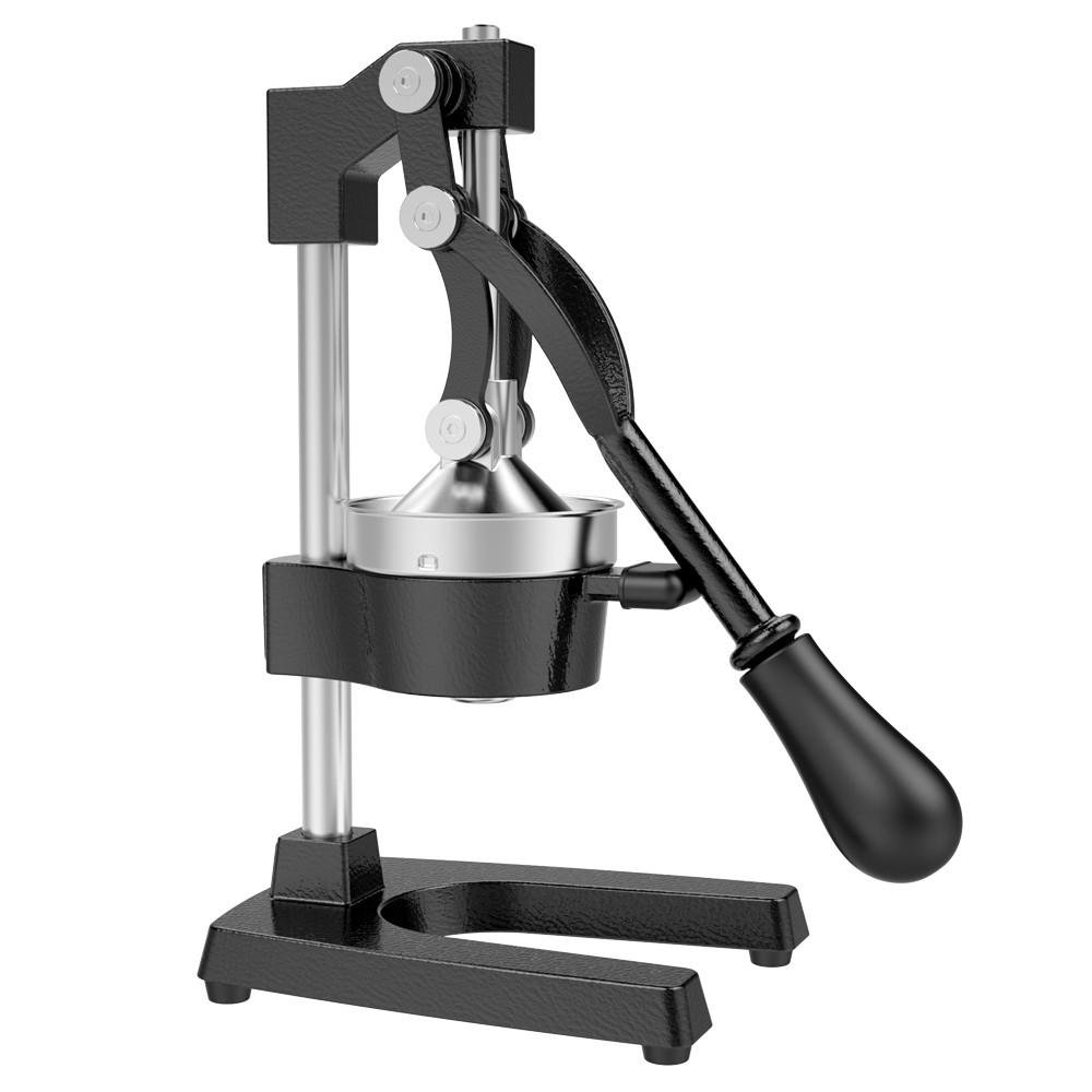 Yaheetech Commercial Grade Hand Press Stand Fruit Squeezer, Heavy Duty Metal Manual Juicer Extractor for Citrus,Lemons, Limes and Oranges Pomegranate etc (Black)